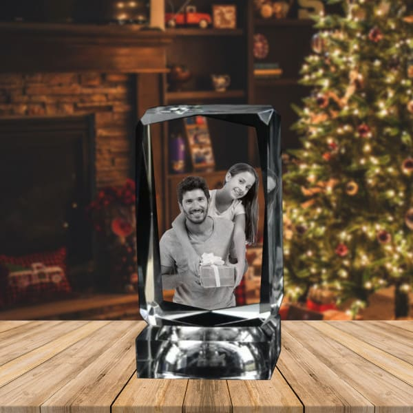 Customized 2D Photo Engraved Crystal Renwick Crystal