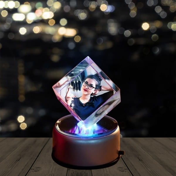 Personalized 3D Photo Crystal Diamond Shape   Renwick Crystal