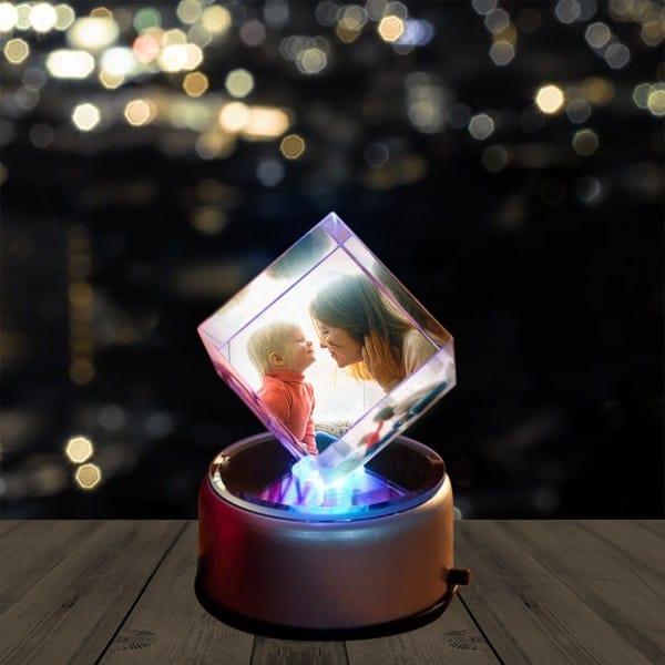 Personalized 3D Photo Crystal Diamond Shape   Renwick Crystal