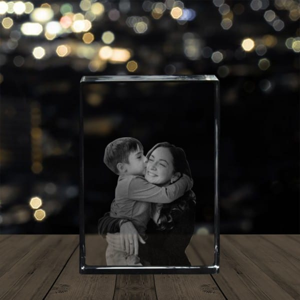 Customized Photo Crystal Cube   Renwick Crystal