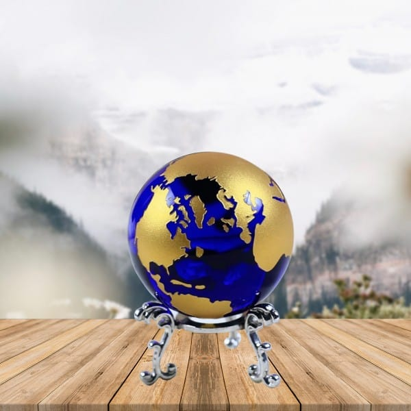 Earth Crystal Glass Globe   Renwick Crystal