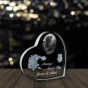 Personalized Heart Shape Crystal -3D Picture in Glass Renwick Crystal