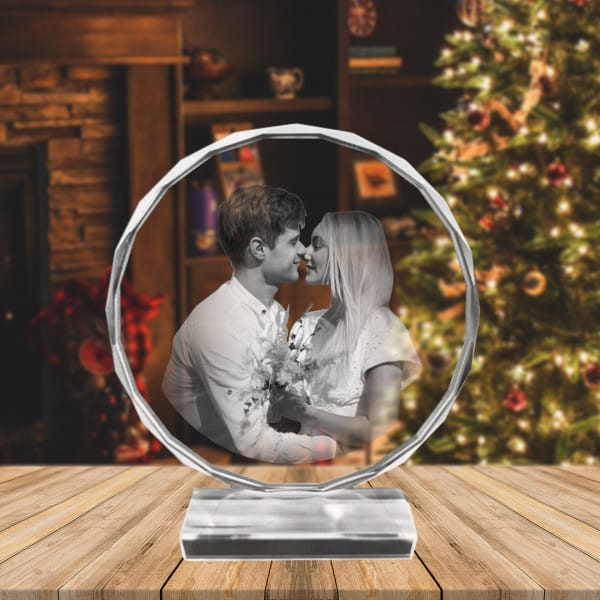 Personalized Photo Engraved Crystal Globe Renwick Crystal