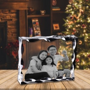 Personalized Photo Engraved Crystal Frame    Renwick Crystal