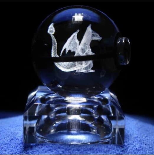 Charizard Pokemon 3D LED Crystal Ball Renwick Crystal