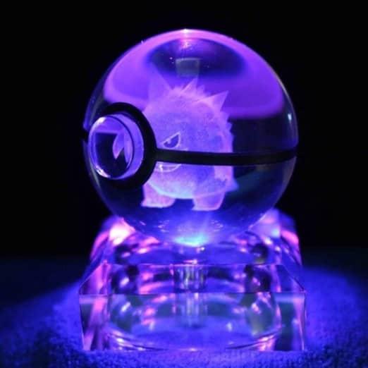 Gengar Pokemon 3D LED Crystal Ball Renwick Crystal