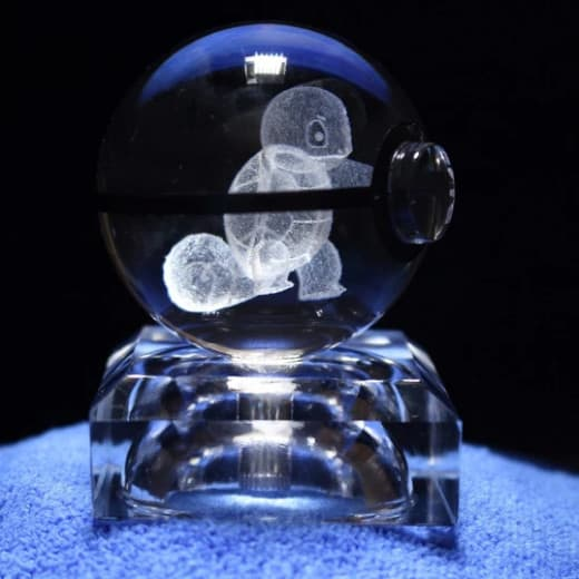 Squirtle Pokemon 3D LED Crystal Ball Renwick Crystal