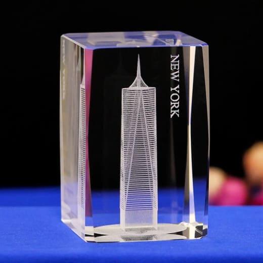 New York City Engraved Crystal Renwick Crystal