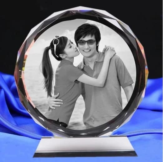 Customized Engraved Text And Photo Crystal Renwick Crystal