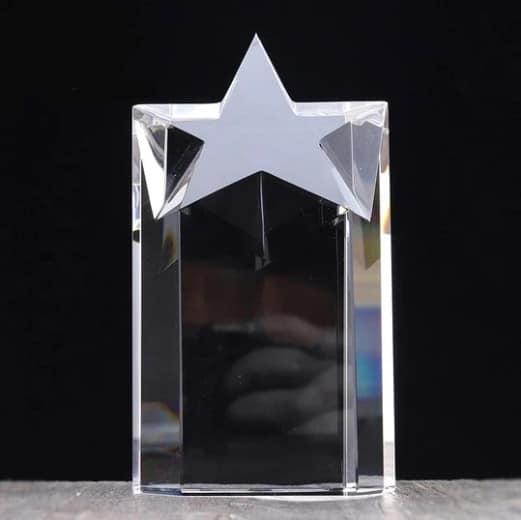 Customized Crystal Trophy Award Renwick Crystal