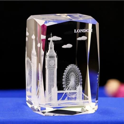 London City Engraved Crystal Renwick Crystal