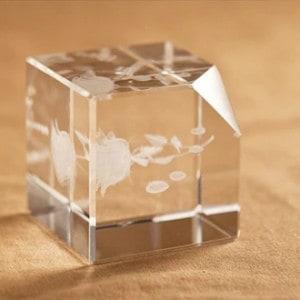 3D Rose Engraved Crystal Renwick Crystal