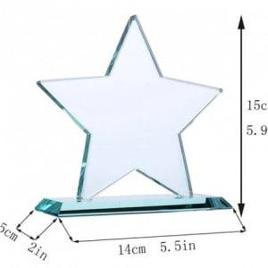 Customized Star Crystal Trophy Award Renwick Crystal