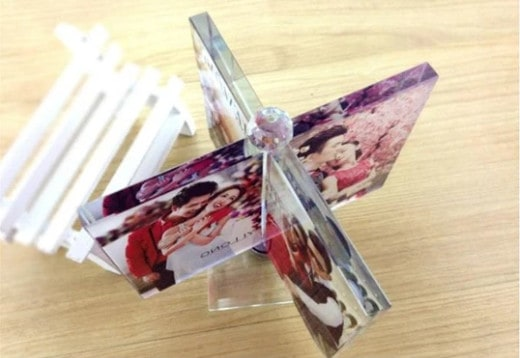 Customized Spinning Crystal Photo Frame Renwick Crystal