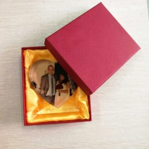 Customized Photo Crystal Heart Renwick Crystal