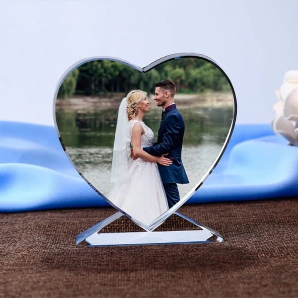 Customized Photo Crystal Heart Renwick Crystal